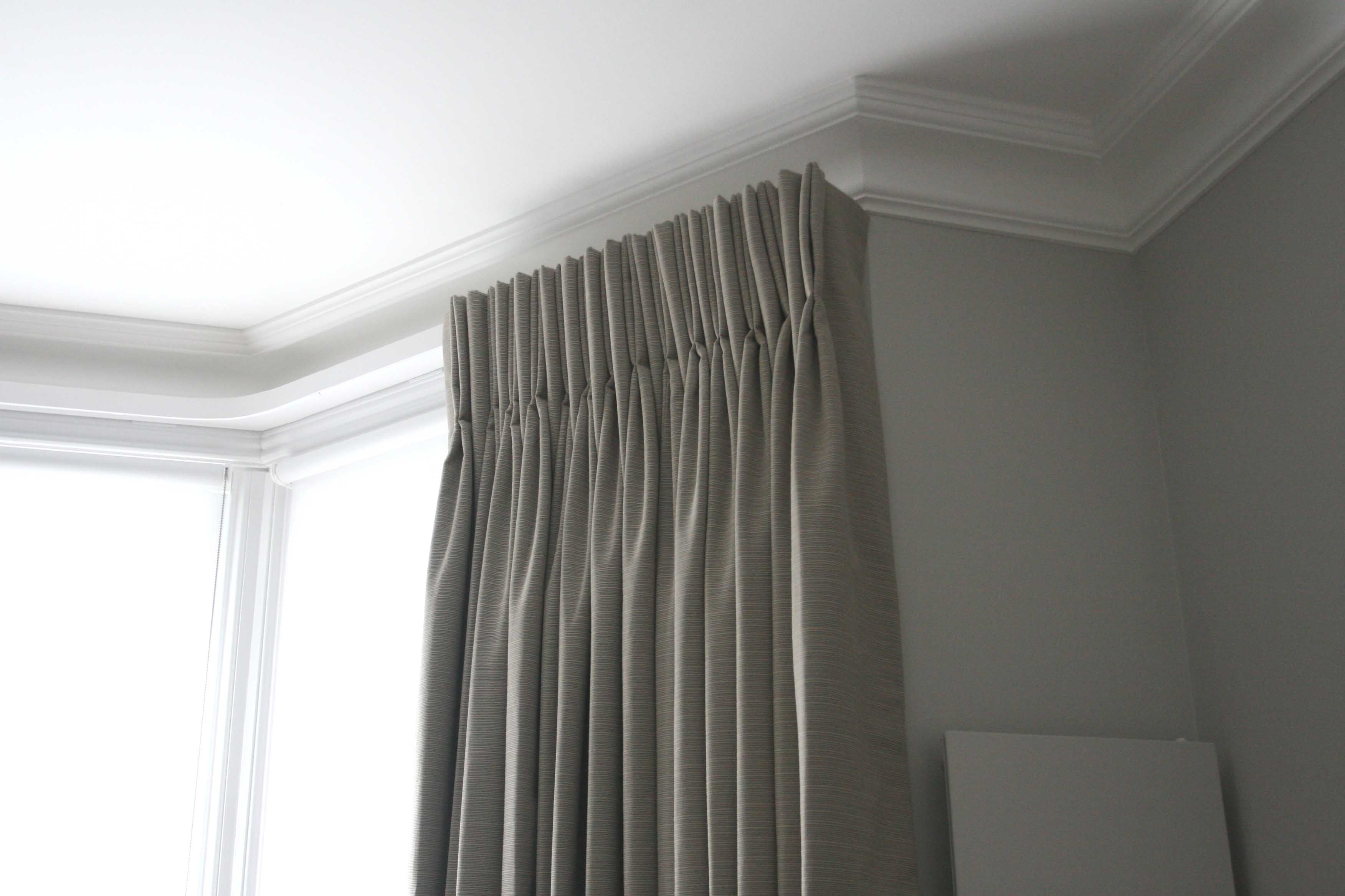 8 inch deep pinch pleat curtains in Harlequin fabric, lined and ... for Pencil Pleat Curtains On Track  61obs