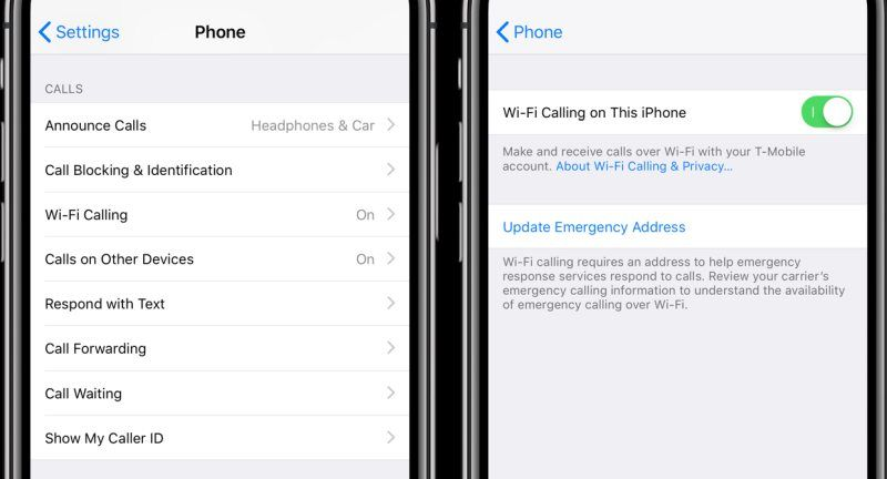 WiFi Calling How to set it up on iPhone or iPad Wifi