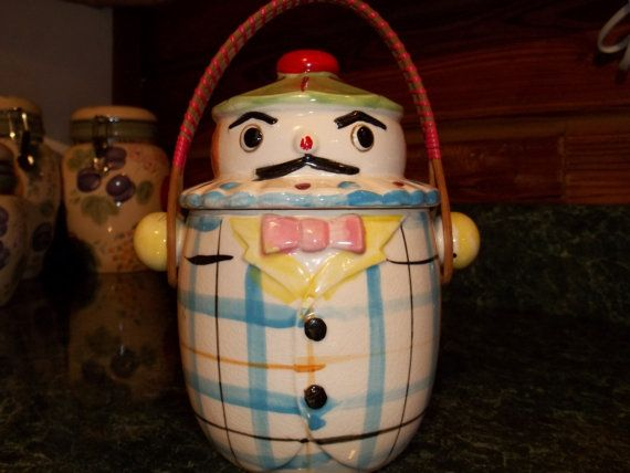 On Sale  Vintage Cookie/Biscuit Jar by by BellaVintageTreasure, $35.00