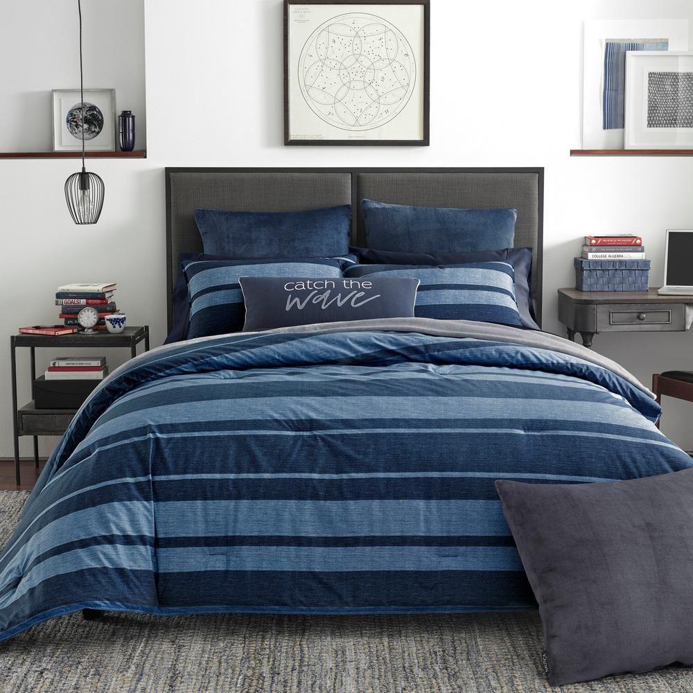 Nautica Longpoint 2 Piece Navy Twin Twin Xl Comforter Set Blue