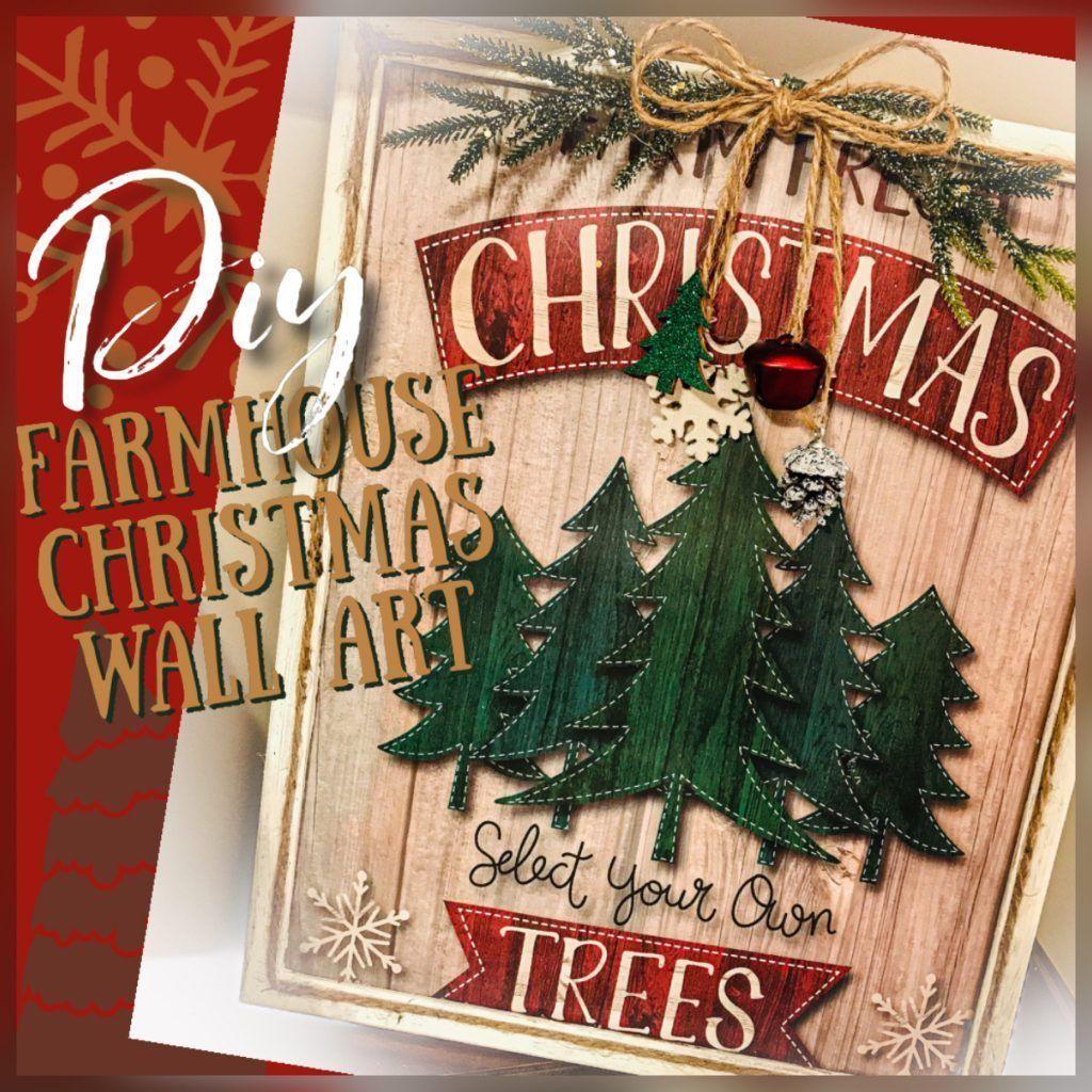 Dollar Tree Christmas Hours 2021 Gift Bag Wall Art Farm Fresh Trees My Eclectic Treasures In 2021 Dollar Tree Gifts Christmas Decor Diy Dollar Tree Gift Bags