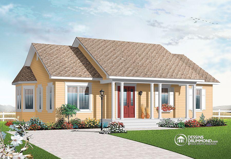 Plan de Maison unifamiliale W3132, champêtre, country, house style