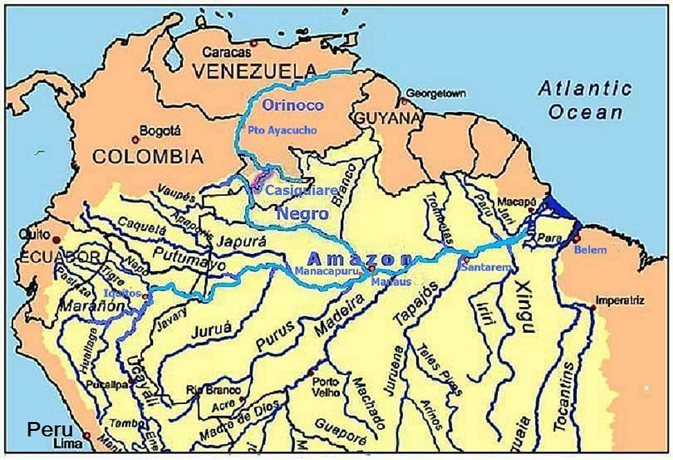 Orinoco River Map Orinoco River Map Orinoco River Pinterest
