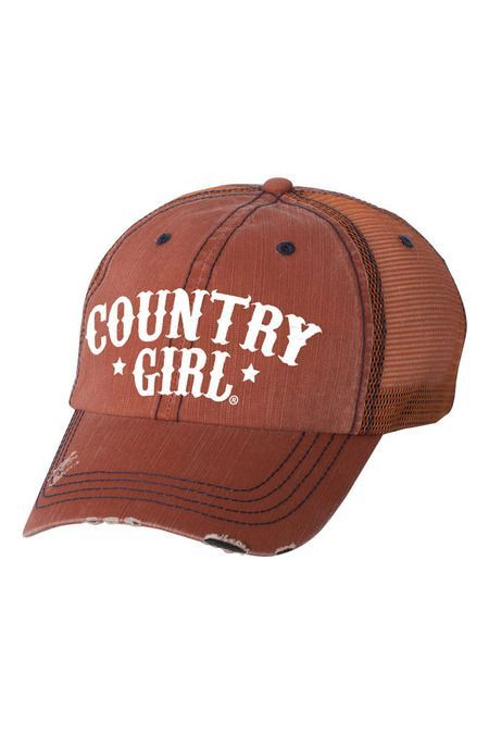 Women s Country Girl® Arched Stars Trucker Hat  bc6e3290079e