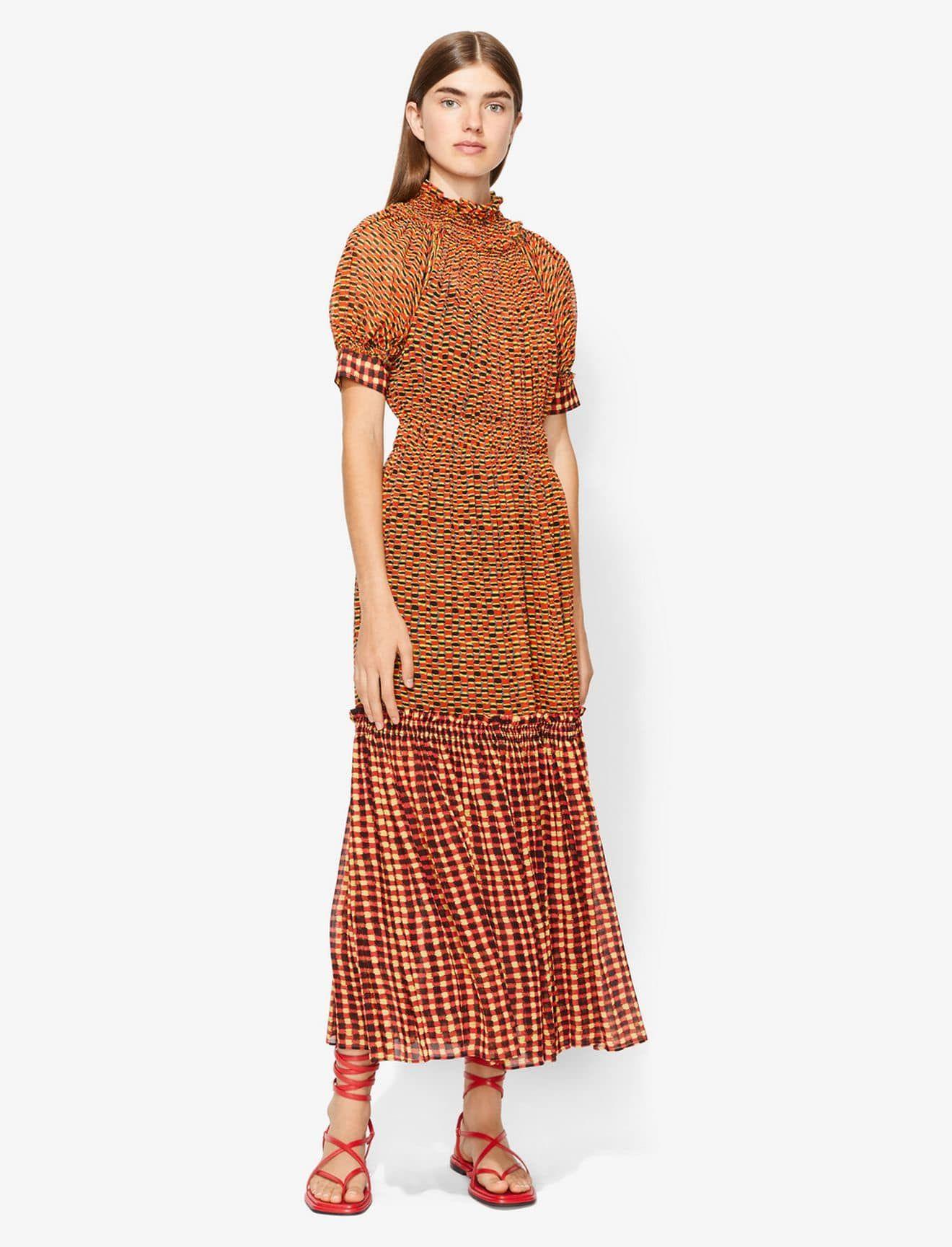 3ebc9d4878a Crepe Chiffon Tiered Dress | Clothing | Tiered dress, Dresses, Chiffon
