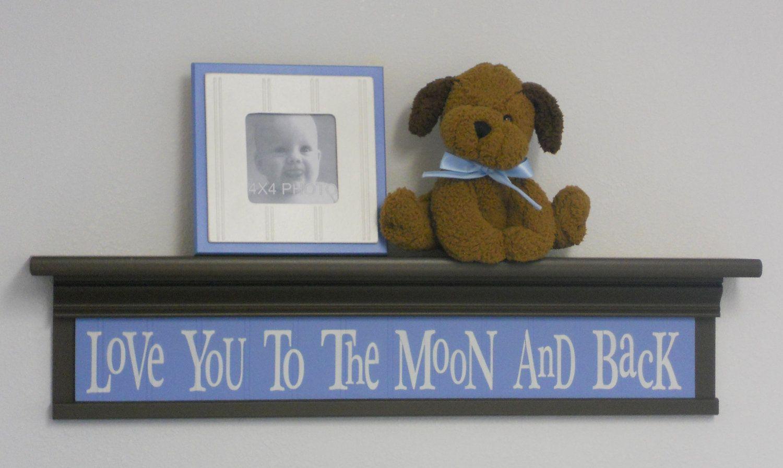 Brown Blue Nursery Decor Baby Boy Wall Decor Soft Pastel Colors