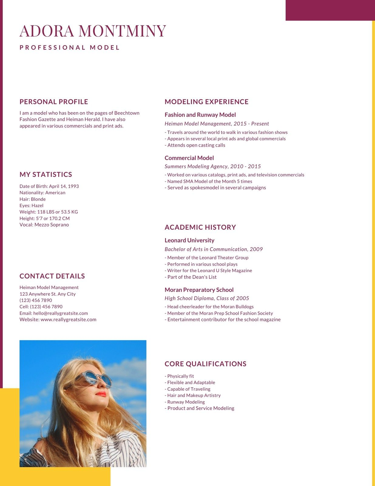 Yellow Magenta Fashion Photo Creative Resume Templates By Canva Ad Fashion Affiliate Photo Yellow M Print Ads Fashion Photo Travel Around The World