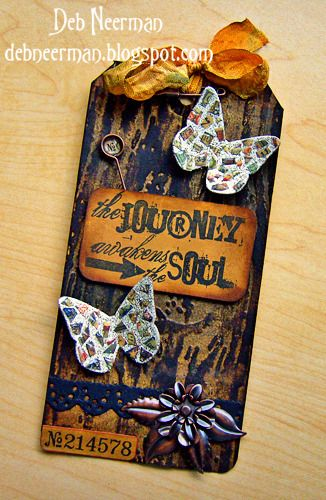 """A brighter version of Tim Holtz's   """"12 Tags of 2012, March,"""""""