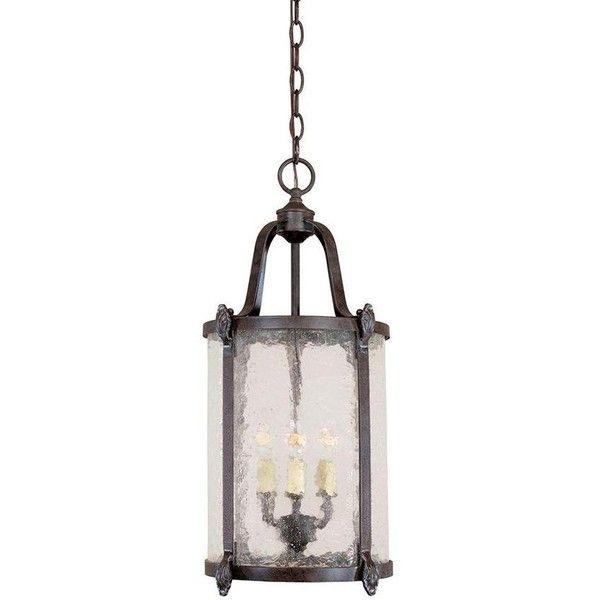 Old Sturbridge Indoor-Outdoor Hanging Lantern (260 CAD) ❤ liked on Polyvore featuring home, outdoors, outdoor lighting, outside lanterns, outdoor yard lights, hanging lantern, indoor outdoor lights and outdoor lanterns