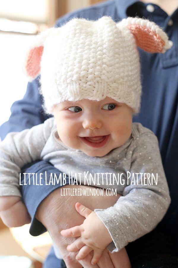 Little Lamb Hat Knitting Pattern   Conejo y Bebe