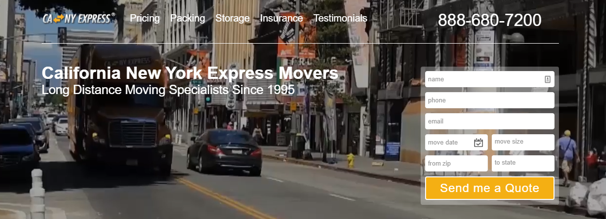 CA NY Express Movers Long Distance Cross Country Movers