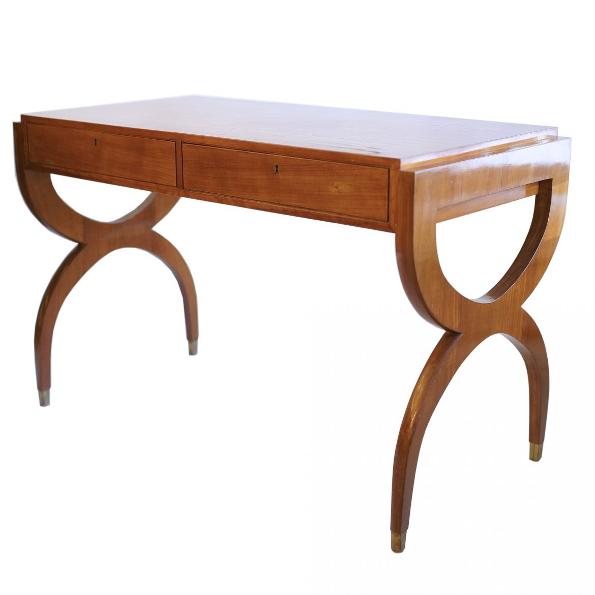 Couchtisch Beton Natura Memphis Walnut Desk With Two Drawers By Paolo Buffa The Kairos