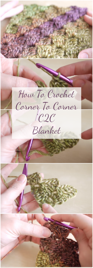 Crochet Corner To Corner (C2C) Baby Blanket and other DIY projects by ing this simple step by step tutorial for beginners Video Guided Pattern! #crochet #crochetblanket #crochetpatterns #crochettutorial #crochetforbeginners #c2cbabyblanket