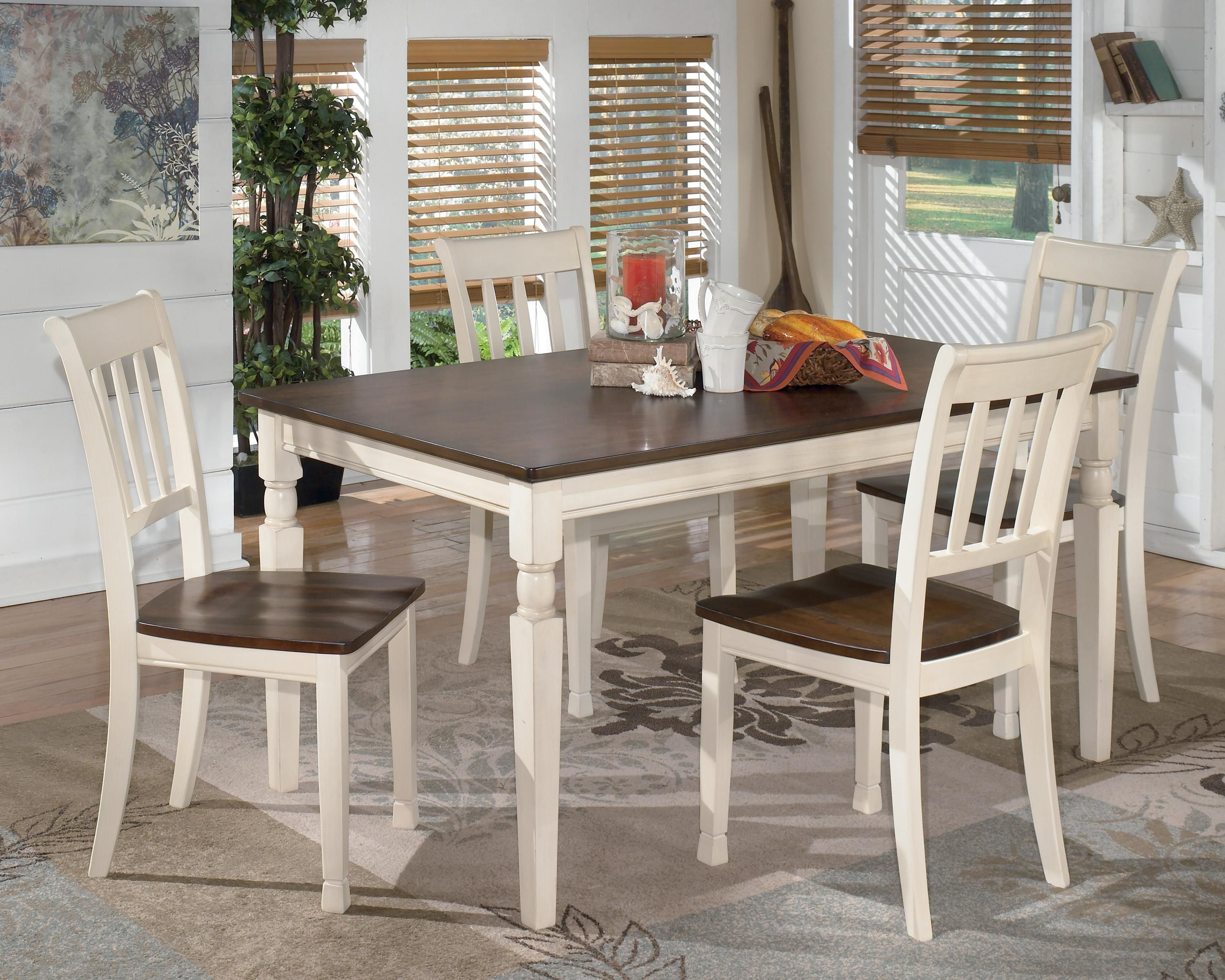 Whitesburg 5Piece Rectangular Dining Table Setsignature Extraordinary Two Toned Dining Room Sets Review