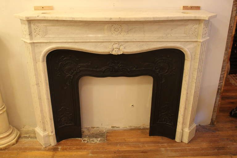 Original Marble Mantel From The Plaza Hotel In Nyc From A Unique
