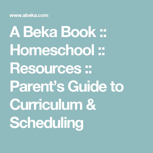 A Beka Book :: Homeschool :: Resources :: Parent\'s Guide to ...