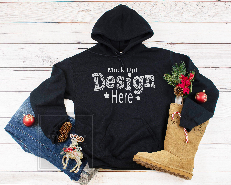 Download Gildan G185 Black Pullover Hoodie Mockup Christmas Hoodie Etsy Black Pullover Hoodie Christmas Hoodies Hoodie Mockup