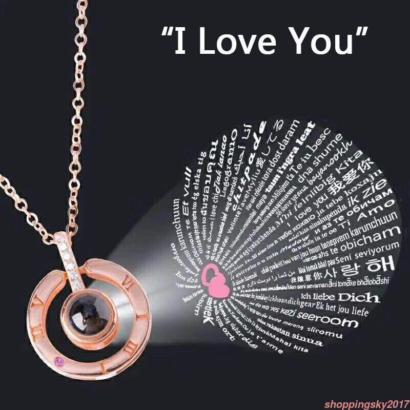 I Love You Necklace 100 Language I Love You Pendant Taki