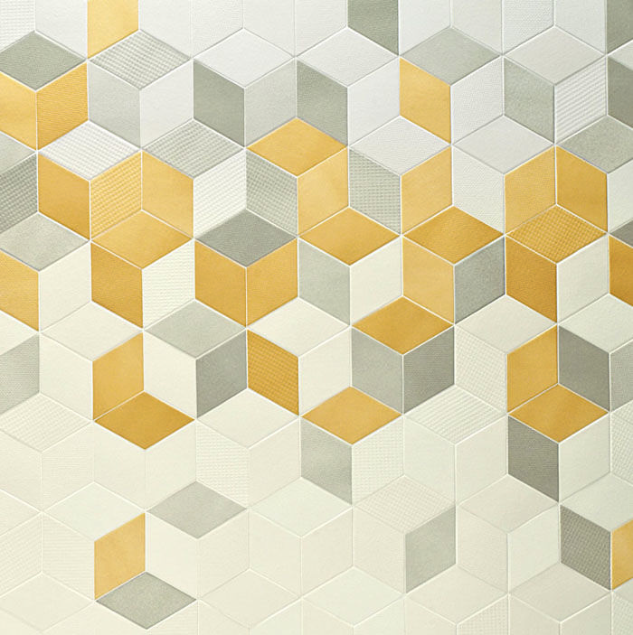 Tex Geometric Porcelain Tiles Designed By Raw Edges For Mutina