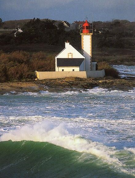 #Lighthouse at Pointe des Chats, Morbihan Brittany, #France - Toochee http://dennisharper.lnf.com/
