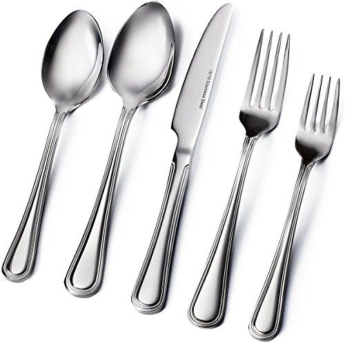 Sagler 20-Piece Flatware Set, 18/10 Stainless Steel silve... http ...