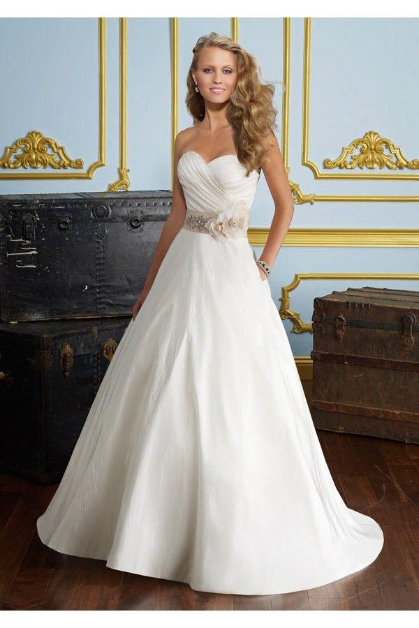 vestidos de novia | vestidos de novia 2015 corte princesa con moño y