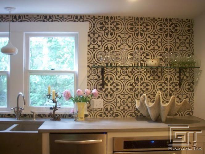 el diseo cluny de granada tile da vida a las paredes de una moderna cocina