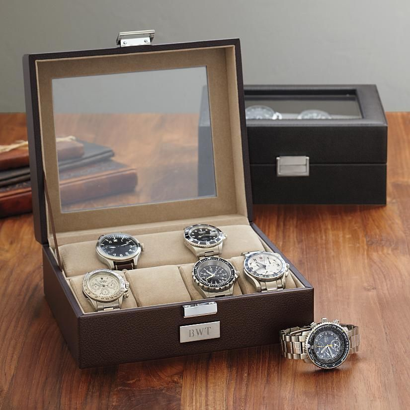 Leather Watch Case Perfect Grooms Party Gift Mens