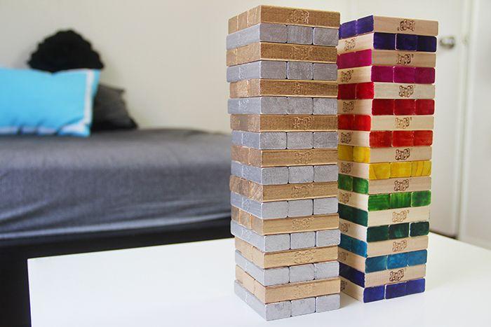 DIY Custom Jenga Game | Karen Kavett