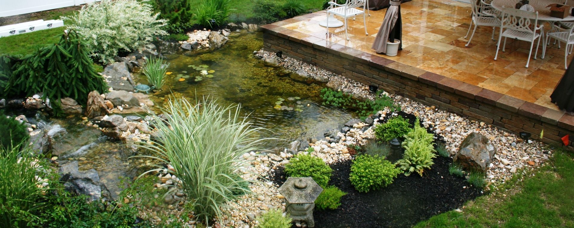 Image Result For Deck With Pond Designs Pond Design Koi 400 x 300