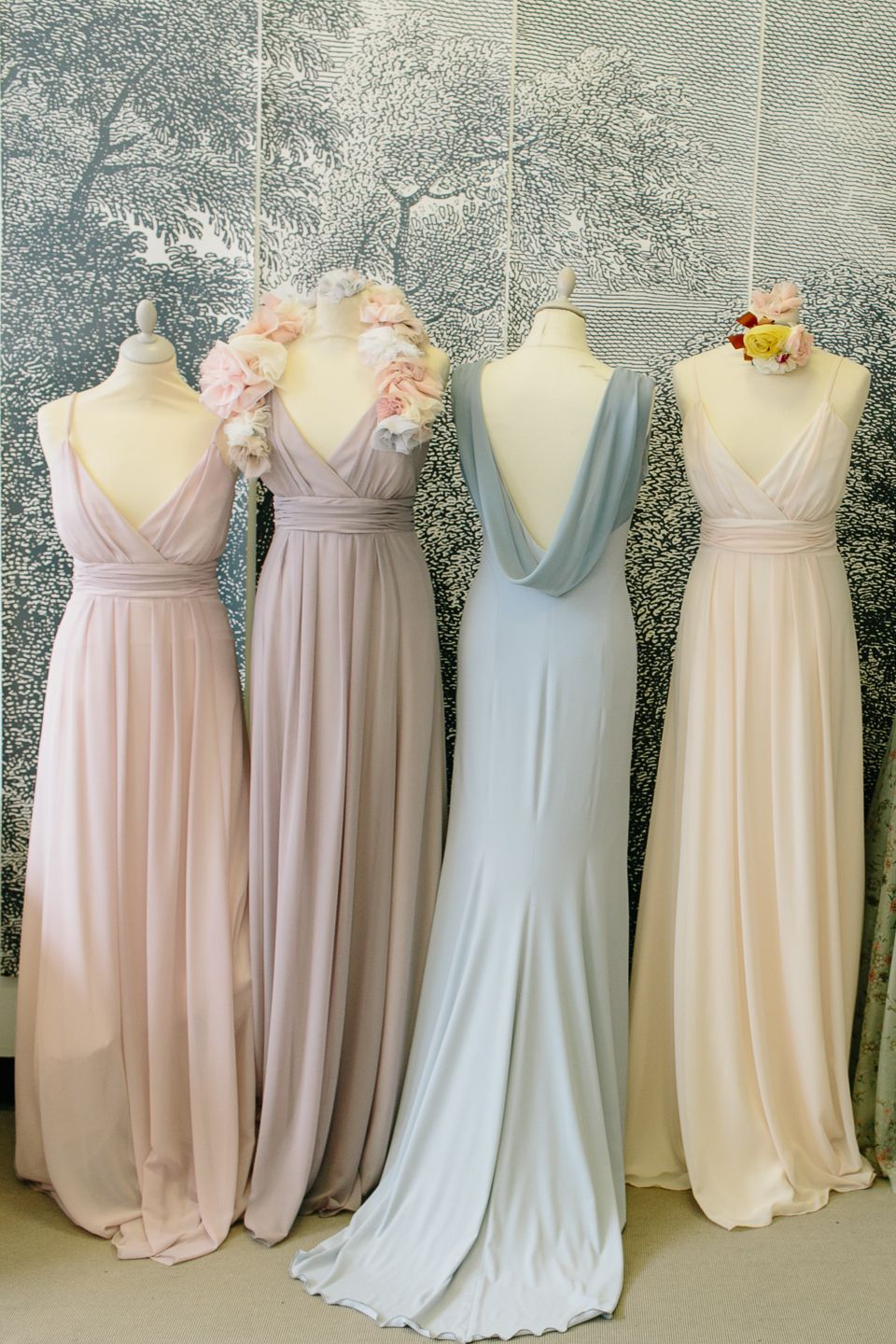 Maids to measure and ciat london pastel pretty bridesmaids maids to measure and ciat london pastel pretty bridesmaids dresses and matching nail varnish ombrellifo Choice Image