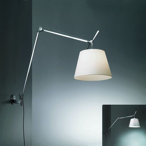 Artemide Tolomeo Mega Wall Wall Mount Neenas Lighting Swing Arm Lamp Lamp Artemide Tolomeo