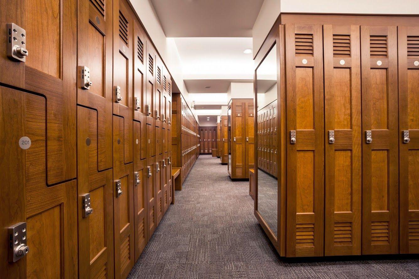 Gallery Lockers, Wood lockers, Locker room