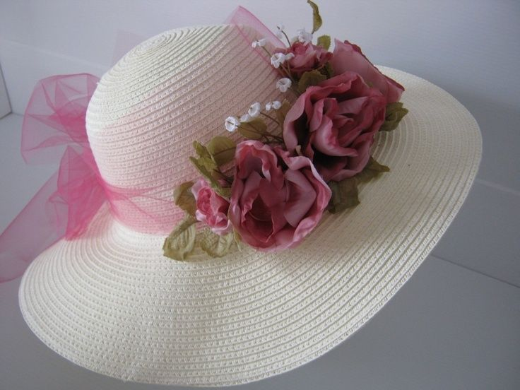 Rose Tulle Tea Party Hat