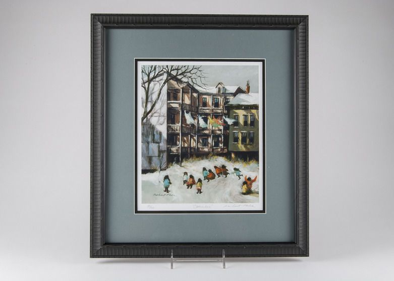 Robert Fabe Lithograph Quot Clothesline Quot Signed And Numbered