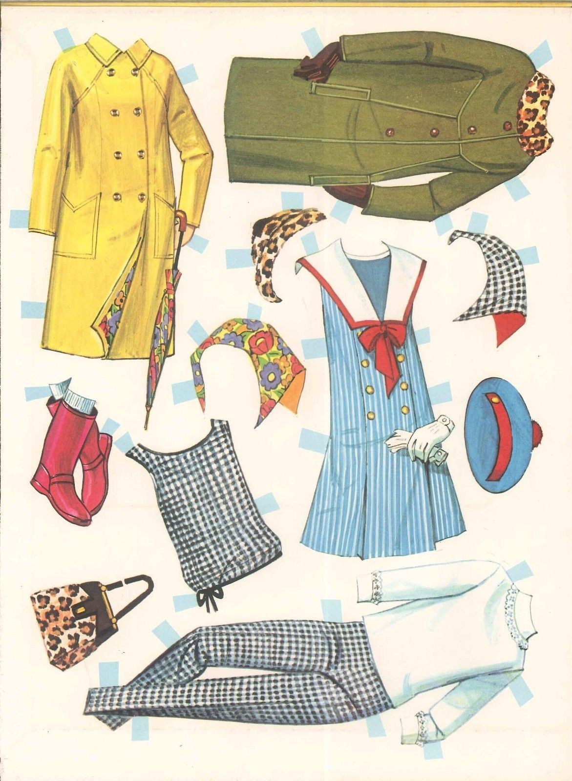 Vintage Uncut 1960s Dodi Paper Dolls HD Laser Reproduction Lo PR Hi Qual RARE   eBay
