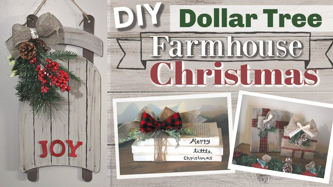 DIY Dollar Tree Christmas 2018 DIY Dollar Tree Farmhouse