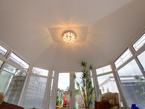 A Nice Light Fitting Installed To The Inside Of A Confix Solid Roof No More Looking At The Mildew Through The Roo Light Fittings Through The Roof Conservatory