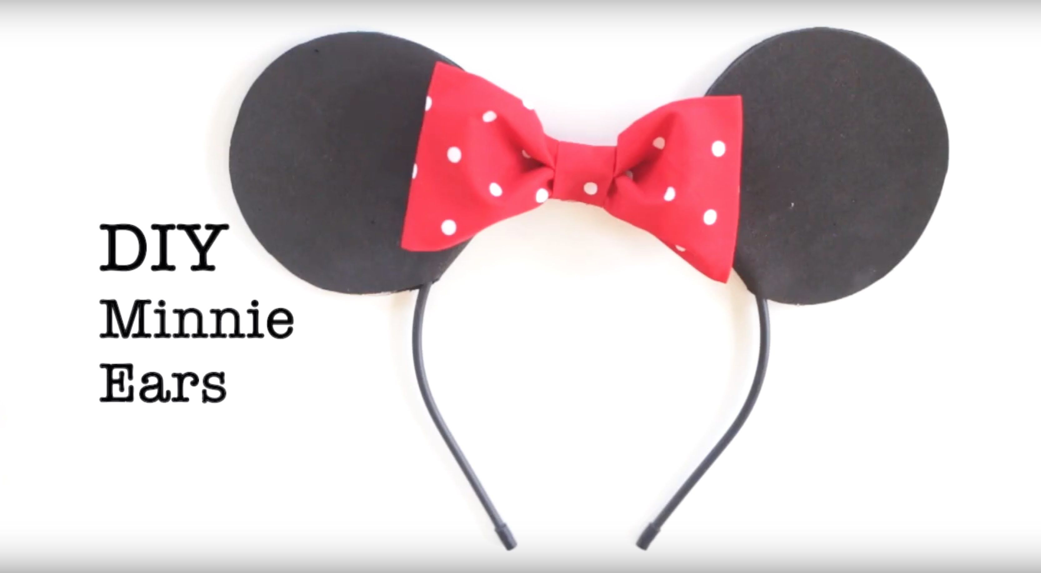 DIY Easy No Sew Mickey and Minnie Ears Easy, Crafty and Craft - minnie mouse halloween decorations