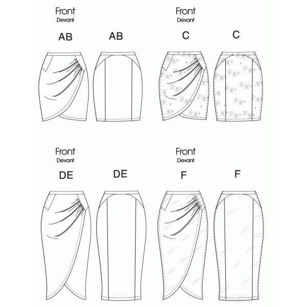 506c78a8489497 patron couture jupe portefeuille 5 … | ilustración de prendas | Tuto …