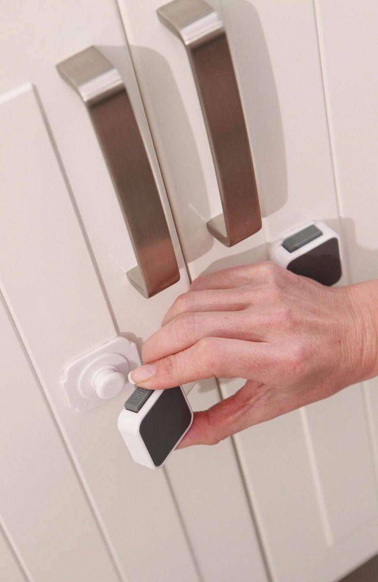 Lindam Xtra Guard Toddler Safety  Dual Locking Drawer Latch Drawer Lock