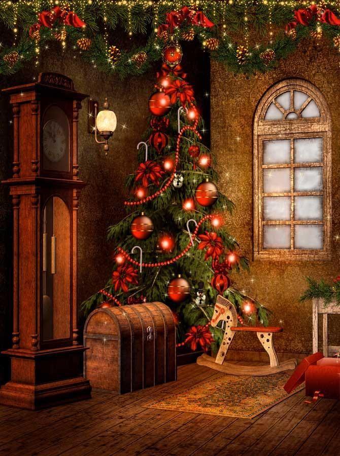 Viktorianischer Weihnachtshintergrund – 9268
