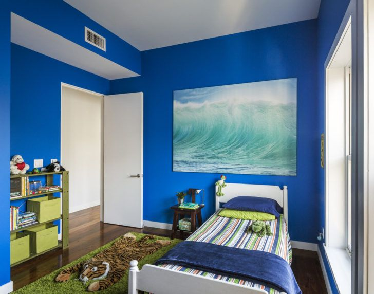 Combinaciones de colores con azul para habitacin de