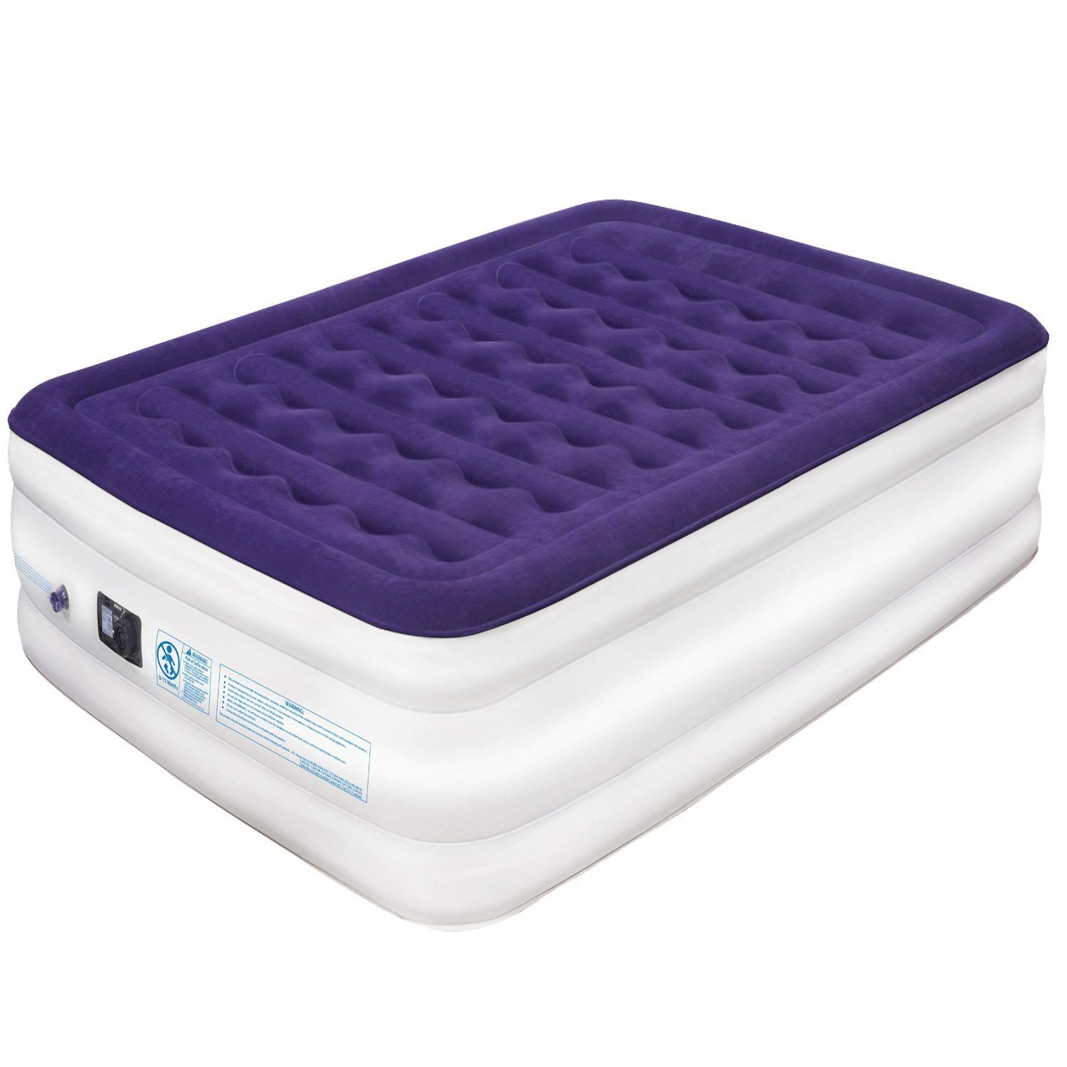 Yeacar Air Mattress Blow Up Raised Airbed Portable Inflatable Bed Queen Size For 34 43 Inflatable Bed Mattress Air Mattress
