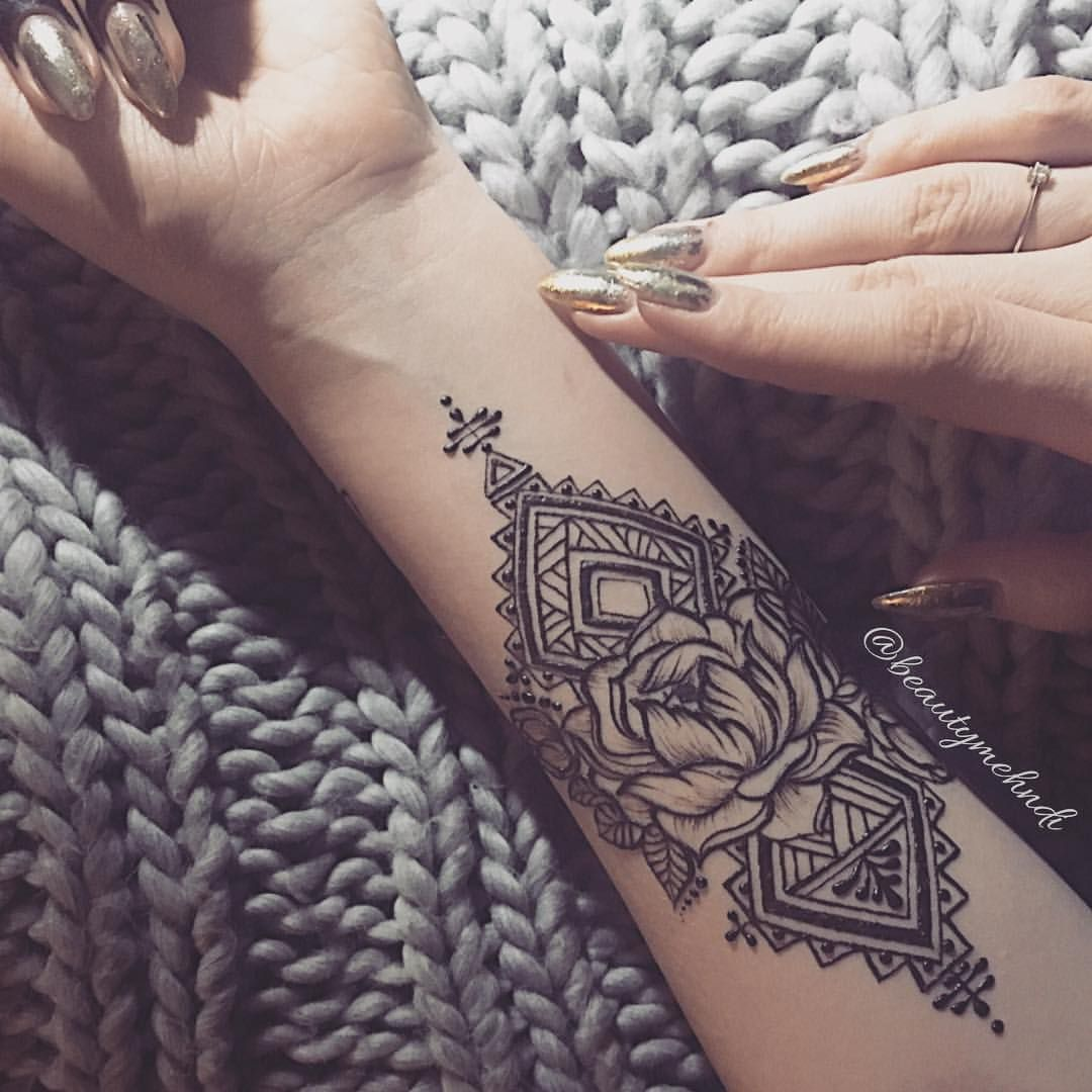 Lotus For Forearm Placement Yeℓiѕѕa Tattoos Henna Henna