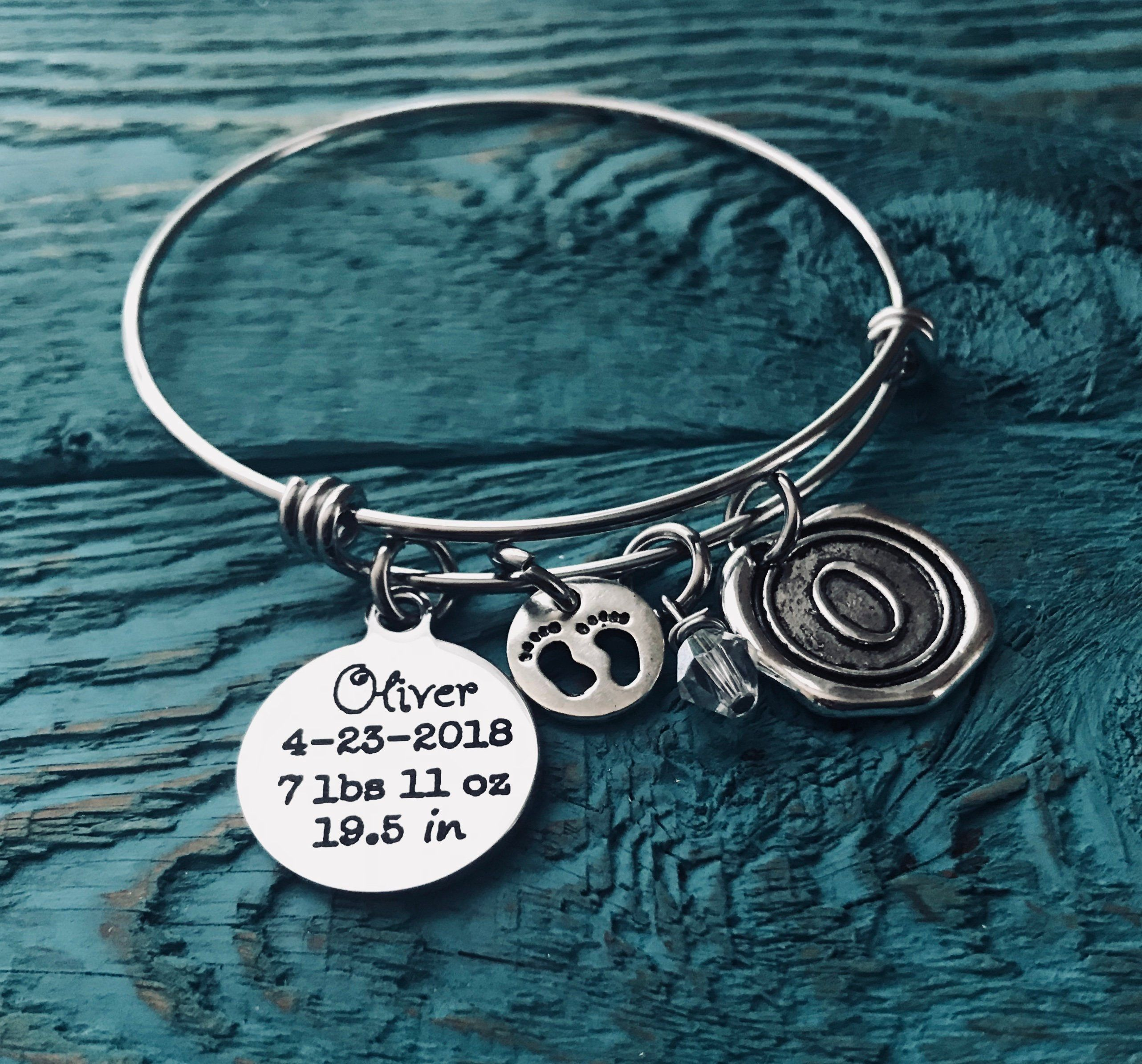 Silver Bracelet Mommy Baby Shower Mom Gift New