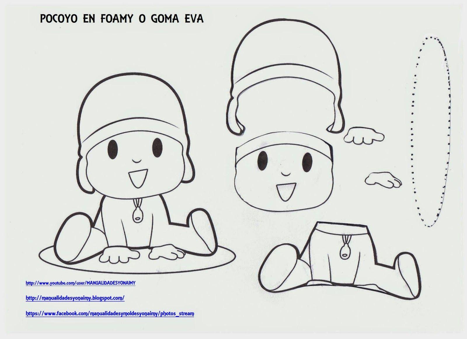 POCOYO EN FOAMY O GOMA EVA | por hacer | Pinterest | DIY y ...
