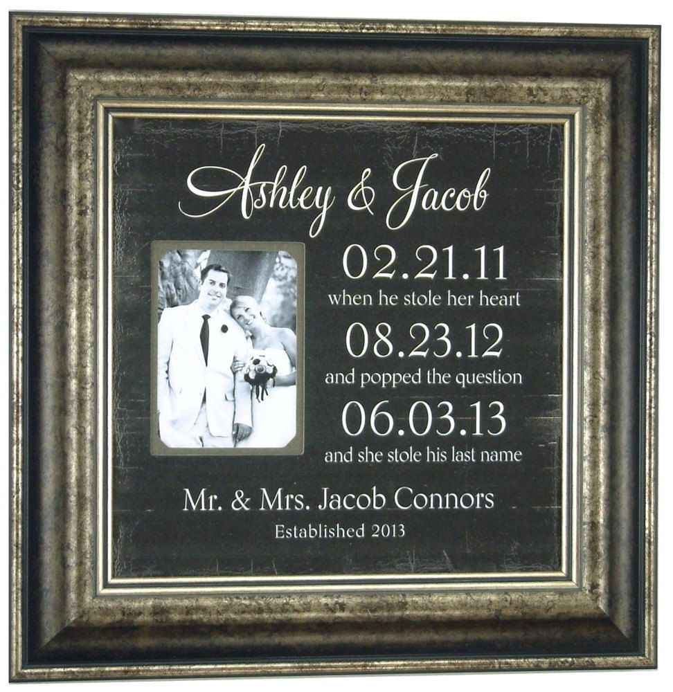 Special Dates Sign Custom Wedding Important Personalized Picture Frame Gift For Parents 16 X