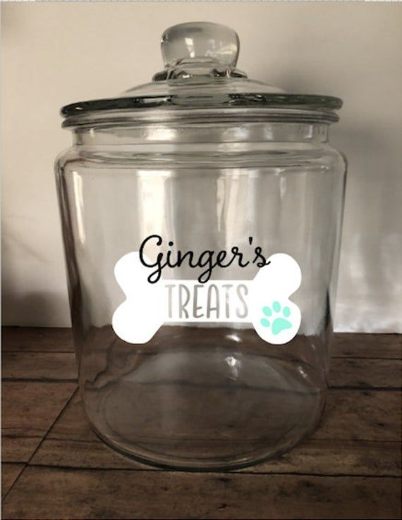Personalized Pet Treat Jar, Personalized Dog Treat Jar, Glass Jar for Treats, Customized Pet Treat Jar, Dog Lover Gift, Cat Lover Gift