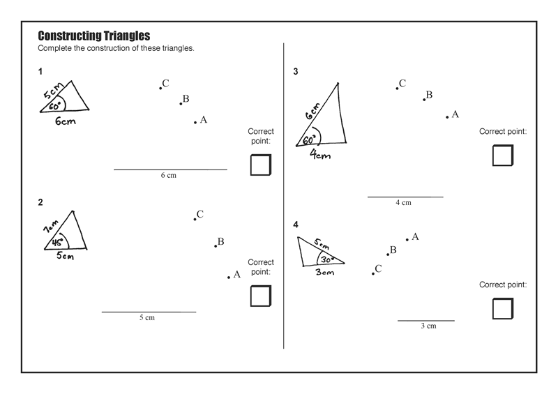 Constructing Triangles Mathsfaculty Construction Math Resources Floor Plans